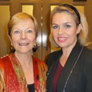 Backstage with Ava Astaire McKenzie during interval of Astaire concert, Ulster Hall, Belfast, October 2010